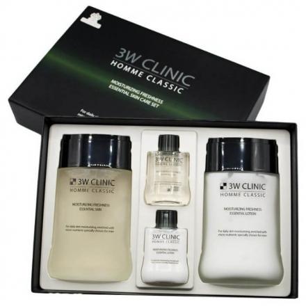 Подарочный набор для мужчин 3W Clinic Homme Classic Moisturizing Freshness Essential Skin Care Set Увлажнение и Свежесть