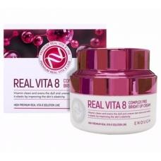 Enough Крем для лица с витаминами Real Vita 8 complex PRO bright up cream
