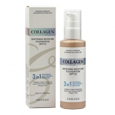 Enough Collagen Whitening Moisture Foundation 3 in 1 SPF 15 100ml - тональная основа с коллагеном 3 в 1