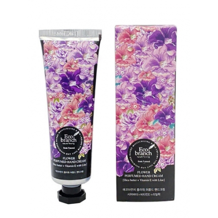 Eco Branch Крем для рук Flower Perfumed Hand Cream Shea Butter With Lilac, 40 г