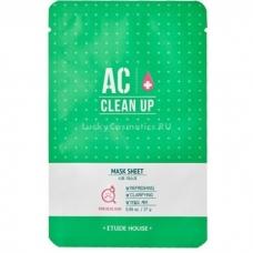 Etude House AC Clean Up Mask Sheet/Тканевая маска для проблемной кожи