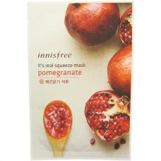 Innisfree Тканевая маска с экстрактом граната It's Real Squeeze Mask Pomegranate