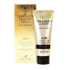 3W Clinic Collagen Luxury Gold Peel Off Pack/Золотая омолаживающая маска-плёнка