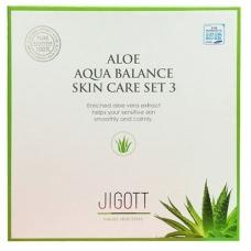 Набор для ухода за кожей Jigott Aloe Aqua Balance Skin Care 3Set Anti-Wrinkle Nutritious Moisturizing