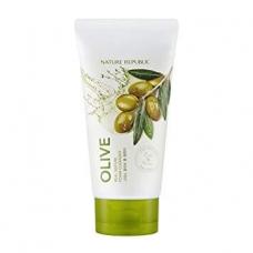Nature Republic Olive Real Nature Foam Cleansing/Пенка для умывания на основе оливы