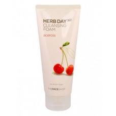 The Face Shop Herb Day Cleansing Foam/ Пенка для умывания с экстрактом ацеролы