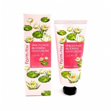 FarmStay Pink Flower Blooming Hand Cream Water Lily Крем для рук на основе экстракта водяной лилии 100 мл..