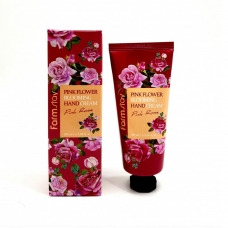 FarmStay Pink Flower Blooming Hand Cream Pink Rose Крем для рук на основе экстракта розовой розы