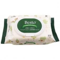 Besto wet wipes/Влажные салфетки с твердой крышкой
