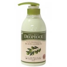 Deoproce WELL-BEING FRESH MOISTURIZING OLIVE BODY LOTION/Лосьон для тела с экстрактом оливы 500ml