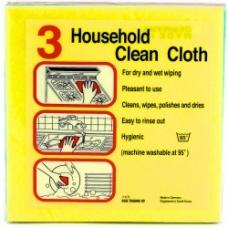 Household Clean Cloth (Германия). Универсальные чистящие салфетки, упаковка 3 шт
