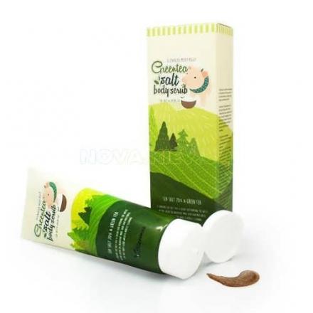 Milky Piggy Greentea Salt Body Scrub Elizavecca/Скраб Для Тела С Экстрактом Зеленого Чая