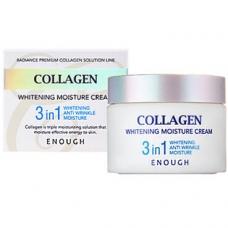 Enough Collagen 3 in 1 Whitening Moisture Cream - Увлажняющий крем для лица