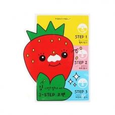Пластыри для носа против черных точек Tony Moly Homeless Strawberry Seeds 3-step Nose Pack 6г