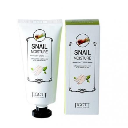 Jigott Snail Moisture Foot Cream/ Увлажняющий крем для ног с экстрактом муцина улитки