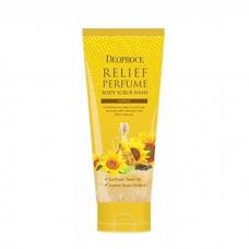 Deoproce Relief Perfume Body Scrub Wash/Скраб для тела с маслом семян подсолнечника