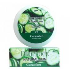 DEOPROCE Natural Skin Cucumber Nourishing Cream/Питательный крем для лица и тела с экстрактом огурца 100 гр.